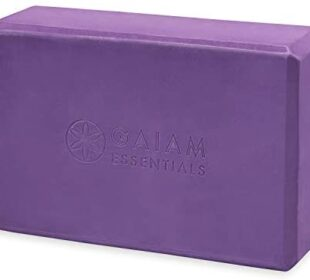 "Gaiam Essentials Yoga Brick | Sold as Single Block | EVA Foam Block Accessories for Yoga, Meditation, Pilates, Stretching (9"" x 6"" x 3"")"