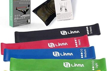 Limm Resistance Loop Exercise Bands - Set of 5 Bands for Working Out with Instruction Guide & Carry Bag - Mini Resistance Bands for Legs and Butt