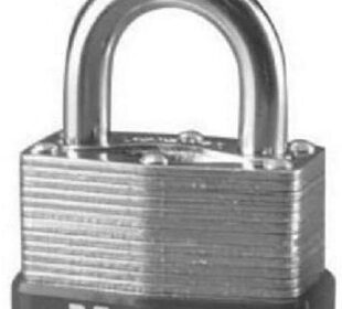 Master Lock Padlock, Laminated Steel Warded Lock, 1-3/4 in. Wide, 500D