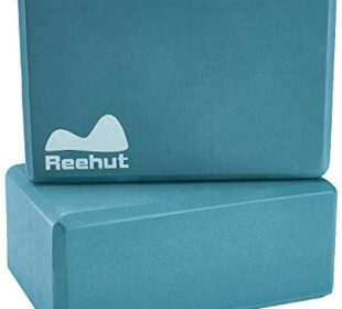 REEHUT Yoga Blocks 2 Pack/ 1 Pack, High Density EVA Foam Blocks to Support and Deepen Poses, Yoga Blocks Set to Improve Strength and Aid Balance and Flexibility - Lightweight, Odor Resistant