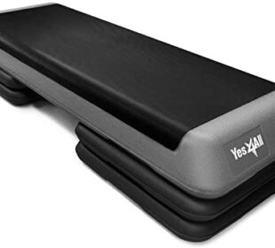 Yes4All Adjustable Aerobic Step Platform with 4 Risers Health Club Size & Extra Risers Options