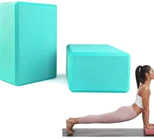 YoTelim Yoga Block 2 Pack Soft EVA Foam Yoga Bricks, Non-Slip Surface Provides Stability and Balance, Ideal for Yoga, Pilates, Meditation, Workout