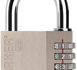 [ZARKER] X70 Padlock- 4 Digit Outdoor Combination Lock, Resettable Lock for Gym, Sports, School, Warehouses,Toolbox, Case, Fence and Storage Unit - Easy to Set Your Own Combo - 1 Pack