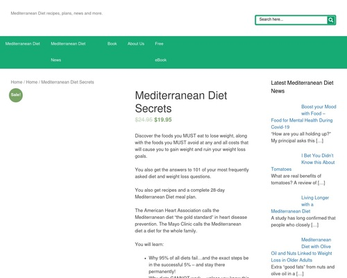 Mediterranean Diet Secrets - MediterraneanDietSecrets.com: Mediterranean diet information including, recipes, diet plans, news & more.