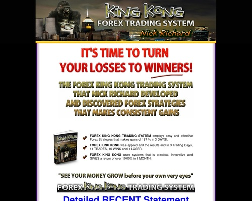 King Kong Forex Trading System