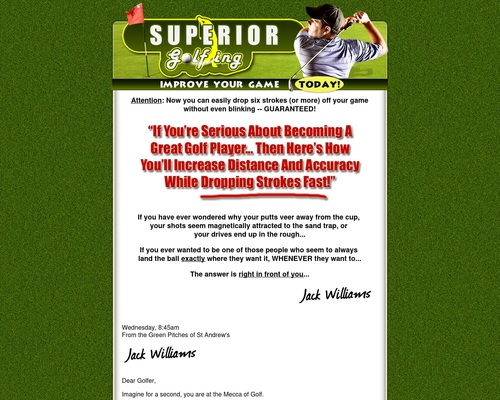 Improve Your Golf Game Fast With Superior Golfing