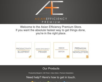Asian Efficiency Premium Store - Productivity and Time Management Products
