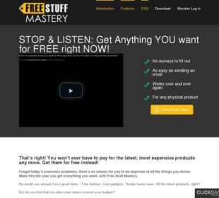 Free Stuff Mastery – Get free products from companies!