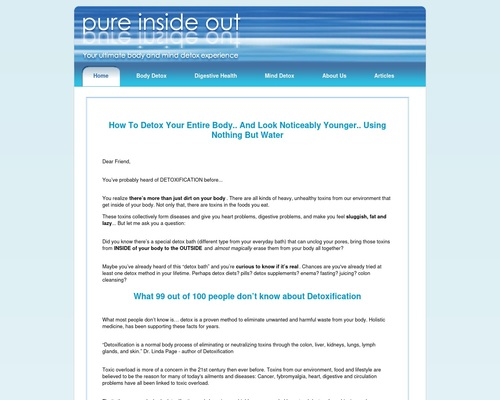 Pure Inside Out  - Detox Bath: Safe and Gentle Everyday Body Detox