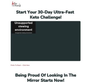 30-Day Ultra-Fast Keto Challenge Video