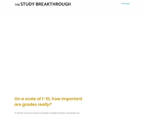 The Study Breakthrough | Hack your mind for better grades without any extra work
