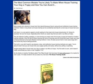 The House Training Guide - Easy, Effective Puppy House Training