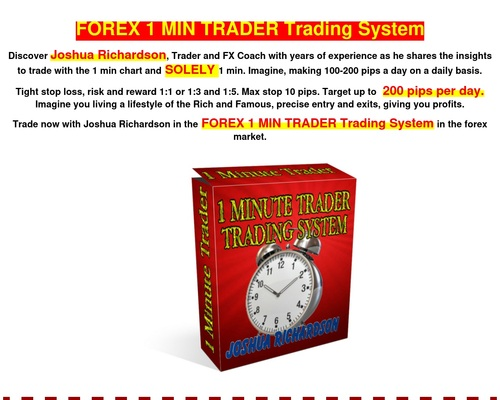 FOREX 1 MIN TRADER Trading System - World's first one minute profitable forex trader
