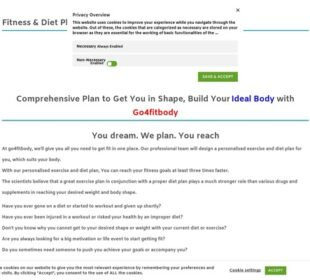 Fitness & Diet Plan for two months » go4fitbody personalised fitness plan