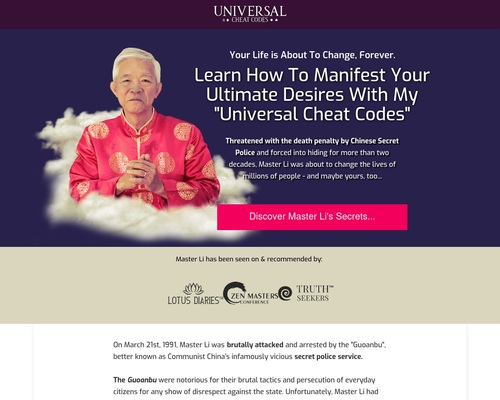 Universal Cheat Codes by The Renowned Master Li