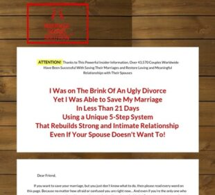 Marriage Saving Solution (tm) - Top Converting Marriage Saving Offer!